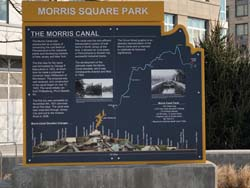 Morris Square Park is located across from the west side of Gulls Cove