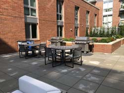 West Courtyard includes gas grills and seating areas