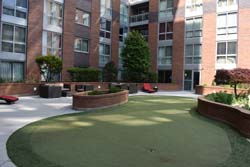 The East Courtyard, including putting green